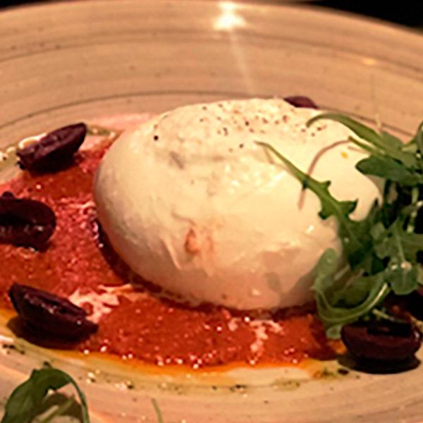 Take Away Buga Restobar - Burrata con Pesto de Tomates Secos